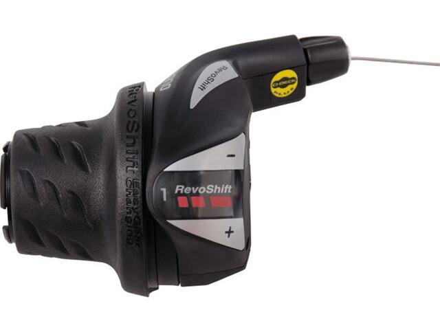 Shimano Tourney SL-RS36 Comando rotante del cambio 3 velocità sinistra, black/silver